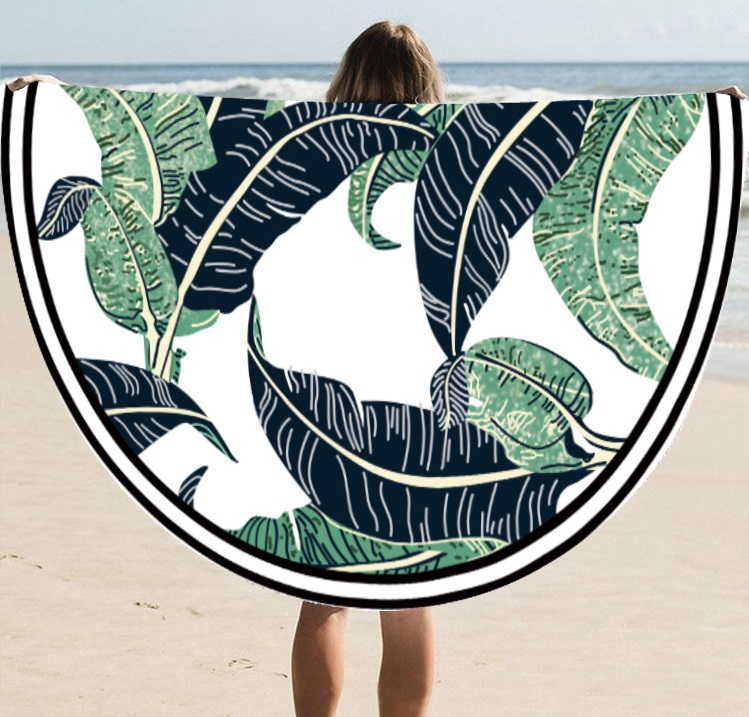 European And American Wind Sunshade Sun Protection Circular Beach Mat Multi-functional Printed Scarf Shawl St06-38