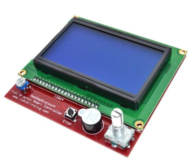 3D printer smart controller RAMPS 1.4 LCD 12864 LCD control panel blue screen 2