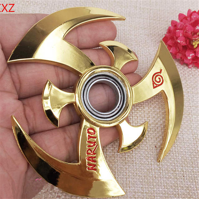 Naruto Darts Alloy Metal Weapon Model Rotatable Darts Cosplay Props Collection Fidget Spinner