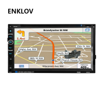 ENKLOV 7 Inch Universal HD Bluetooth Car DVD Player 2 Din CD Reversing Priority For Volkswagen