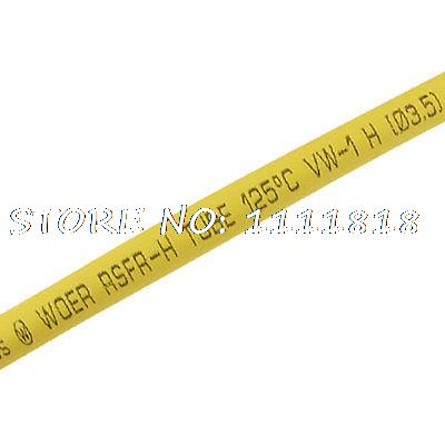 Yellow Shrink Tubing 3.5mm Dia. Heat Shrinkable Tube 200M 1mm dia heat shrinkable tube shrink tubing red 20m