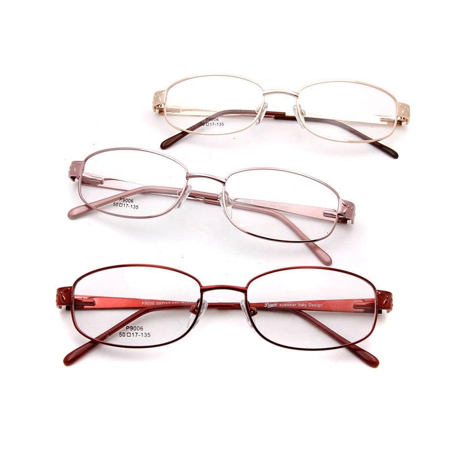 SORBERN Women Oval Glasses Frames Optical Clear Lens Eyeglasses High Quality Female Metal Spectacles Prescription Eyewear in Women 39 s Eyewear Frames from Apparel Accessories