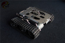 Official DOIT RC Tank Chassis Caterpillar Tractor Crawler Metal Wheel Robot Car Obstacle Avoidance Barrowland diy rc toy UNO r3