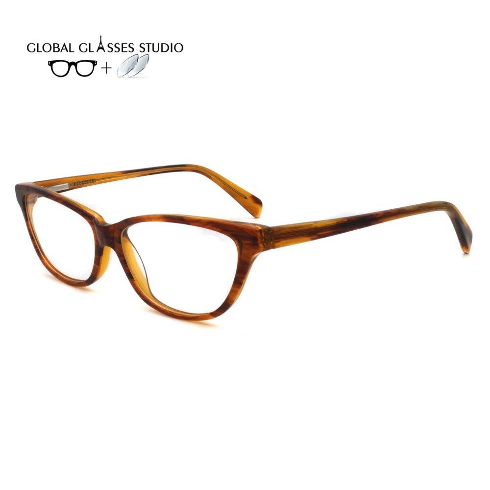 Männer Frauen Acetat Brille Rahmen Brillen Brillen Lesen Myopie Rezept Objektiv 1,56 Index Rm0412 StraßEnpreis