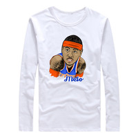 2017 Melo Royal 7 Carmelo Anthony Autumn Winter Men T Shirt Long Sleeve Tees T SHIRT