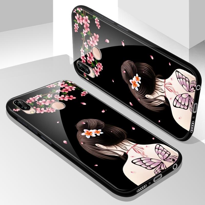 Tempered Glass Case for Huawei Nova 3E Nova3e Full Cover Case with Tempered Glass Screen Protection Film for Huawei Nova 3E Case in Fitted Cases from Cellphones Telecommunications