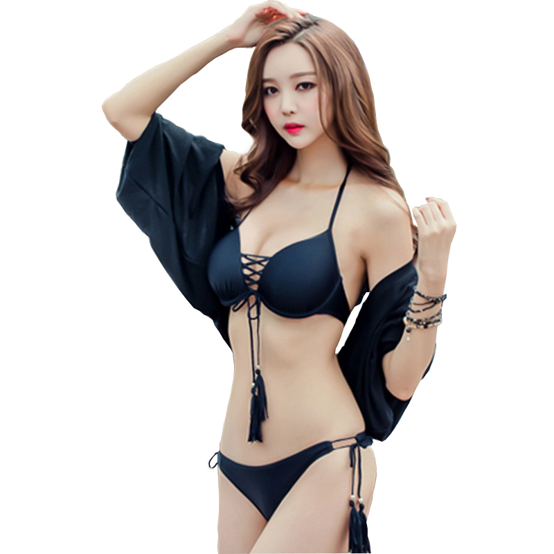 2017 Women Brazilian Bikini Ties Halter Swimwear Sexy Swimsuit Bandage Biquini Push Up Padded Bathing Suit Maillot De Bain Femme sexy women one piece swimsuit push up bikini mayo bandage ties monokini swimsuit bathing suit swimwear maillot de bain femme