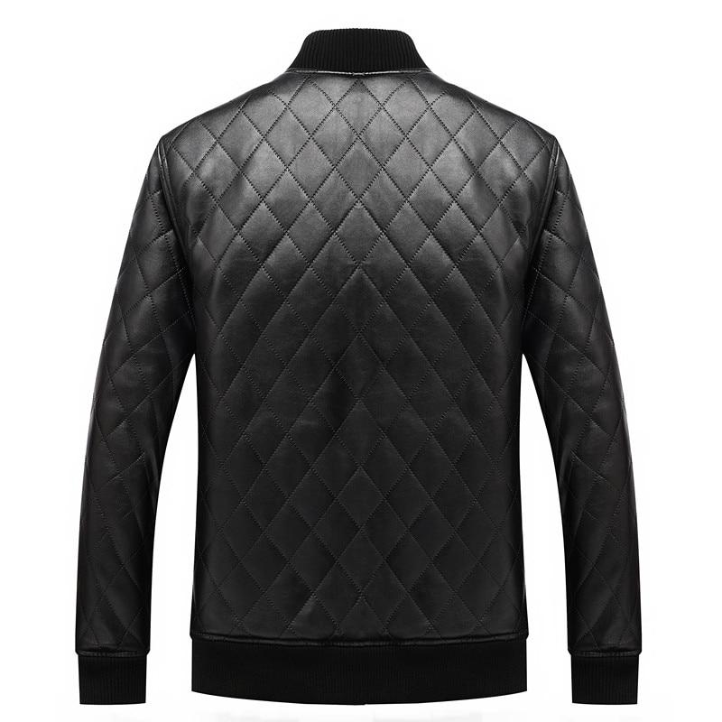 2017 sıcak erkekler sıcak deri ceketler motosiklet ceket rüzgar - Erkek Giyim - Fotoğraf 2