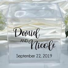 Персонализированная наклейка для коробки на свадьбу, виниловые наклейки на помолвку, наклейки на заказ, съемный Простой деревенский Свадебный декор D041