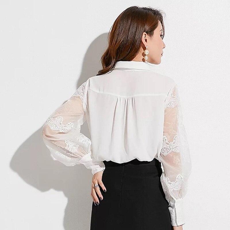 cbbfaf712ee B003 elegant sheer puffy sleeve organza long sleeve women blouse IMG 2361  IMG 2362 IMG 2363 ...