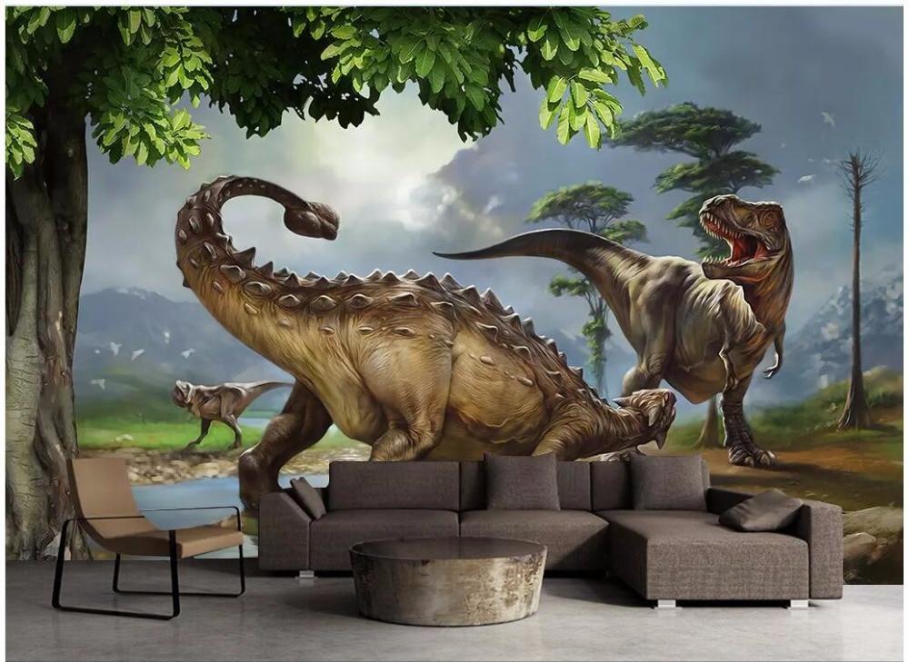 3D Dinosaur Group Poster 23 Wallpaper Mural Wall Print Decal Indoor Murals AU