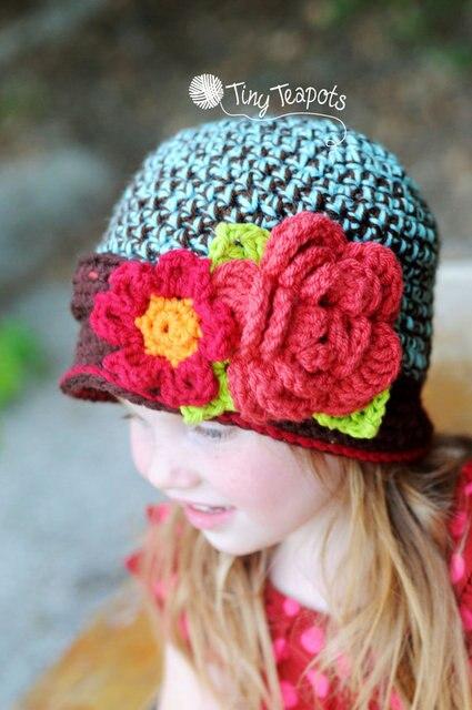 Kleinkind Mädchen Häkelarbeit blume Hut, neue Handgemachte ...