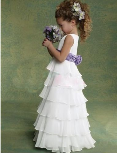 New Ruffle A Line Custom Made Kids Baby Princess Flower Girl Dresses Bridesmaid Party Dress new love live cosplay shoes sonoda umi lonelive anime party boots custom made