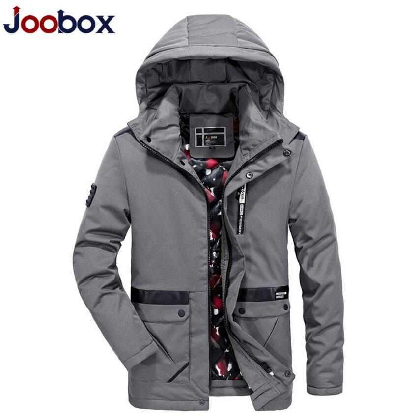 2017 New Winter Jacket Men Fashion Casual Hooded Mens Jackets And Coats Brand Clothing Black And Gray JS-01557 new 2016 jacket men fashion casual loose mens jacket sportswear bomber jacket mens jackets and coats plus size yc37679