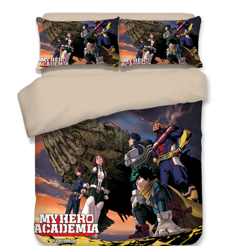 Anime Boku No Hero Academia Duvet Cover Set 3D Bedding Sets Luxury Manga Bed Set Include 1pc Duvet Cover and 2pc dakimakura case