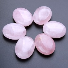 yaye Natural Pink Rose Quartz Crystal Palm Stone Polished Oval Massage Worry Reiki Healing Stones Tool