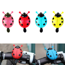 Aluminum Alloy Bicycle Bell Ring Lovely Kid Beetle Mini Cartoon Ladybug Ring Bell For Cycling Bicycle Bike Ride Horn Alarm bicycle bike handlebar ball air horn trumpet ring bell loudspeaker noise maker free shipping