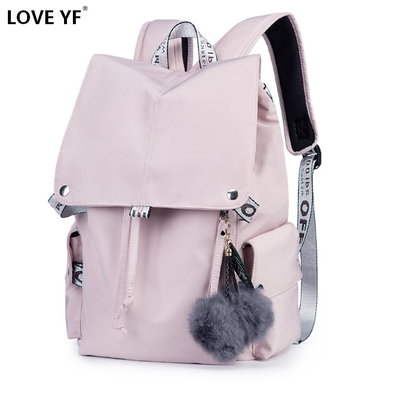 Casual Backpacks Women's Black And Pink Waterproof Backpack Girl Backpack Student Backpack Mochila Das Mulheres Shoulder Bag