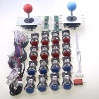 Arcade DIY Kits Parts USB Control Panel Handle To PC 5 Pin China Rocker 16x Push
