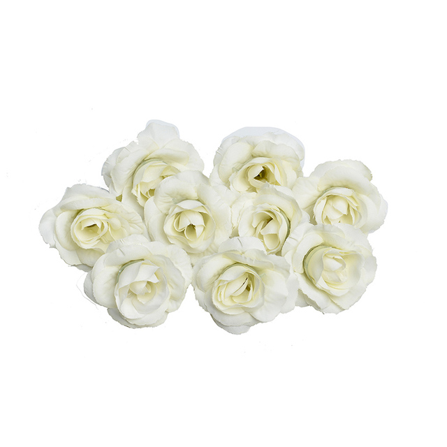 New 10pcs artificial flower 4cm silk rose flower head wedding party home decoration DIY wreath scrapbook gift box craft 1