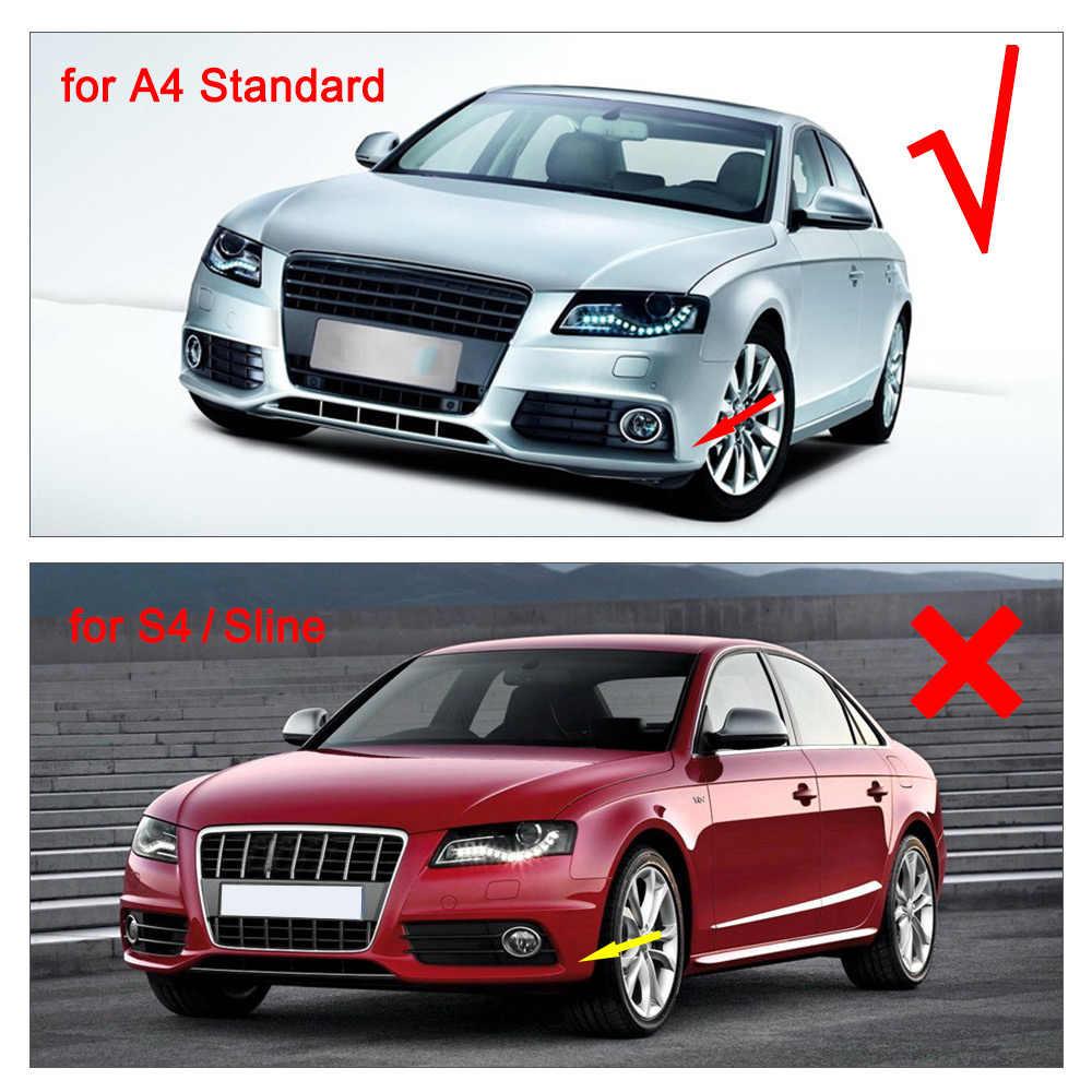 炭素繊維の車のリアバンパーディフューザーアウディ A4 B8 標準セダンのみ 09-12 黒 PU と排気のヒント