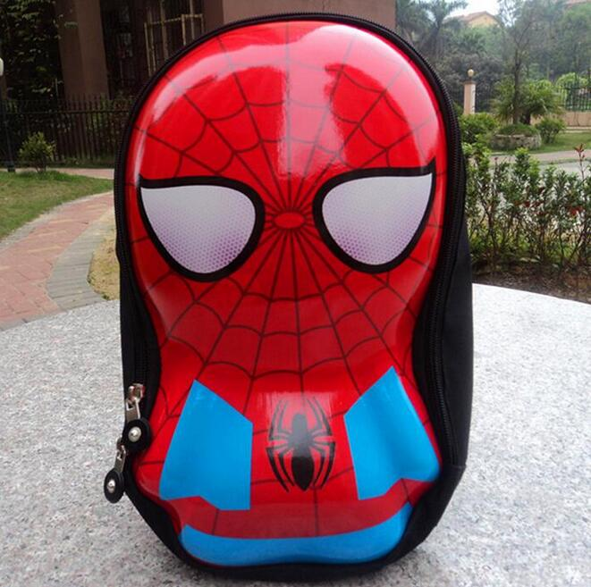 POESECHR 6D spiderman cartoon children backpack shell of environmental protection material Kids backpacks baby school bag