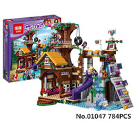Model Building Kits Compatible With City Girls Friend Adventure Camp Tree House 739 Pcs 3D Blocks