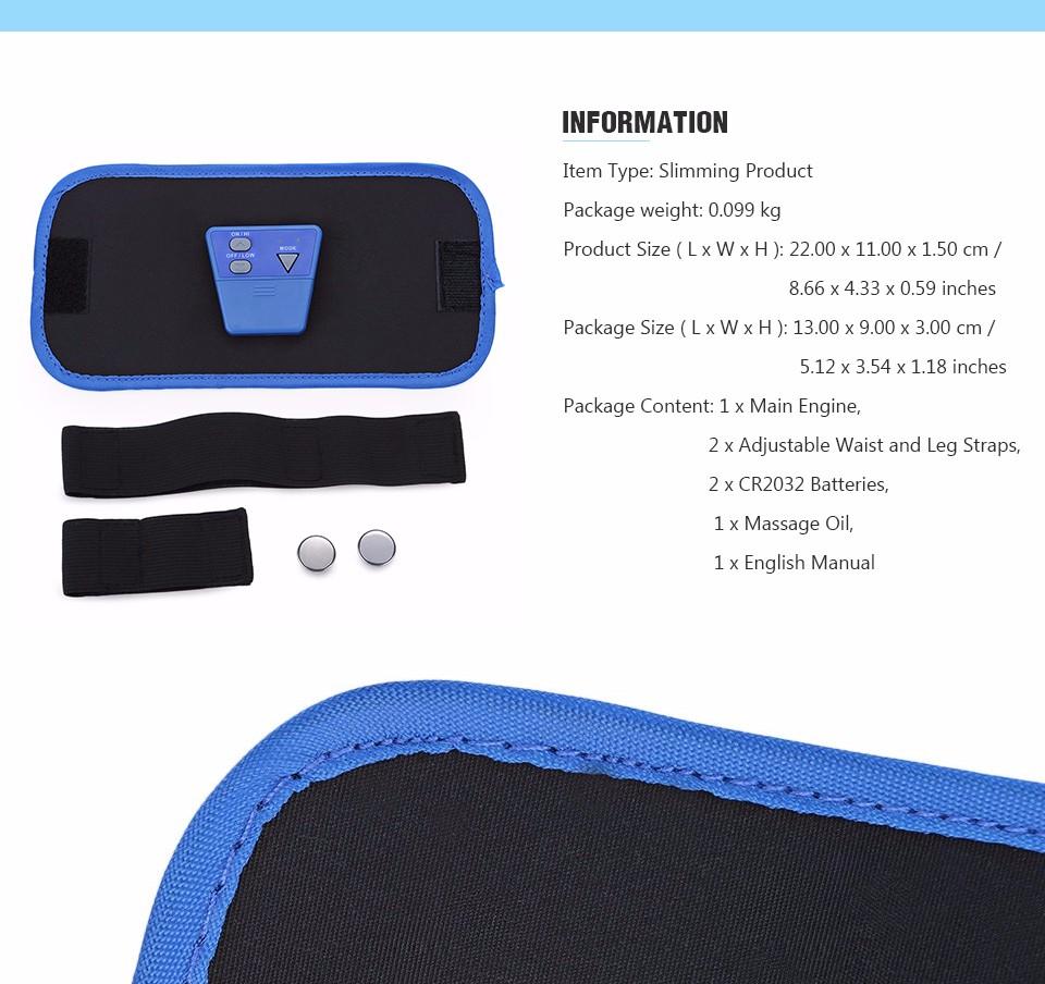17 Slimming Electronic Belt Body Muscle Arm leg Waist Abdominal Massage Exercise Belt 4