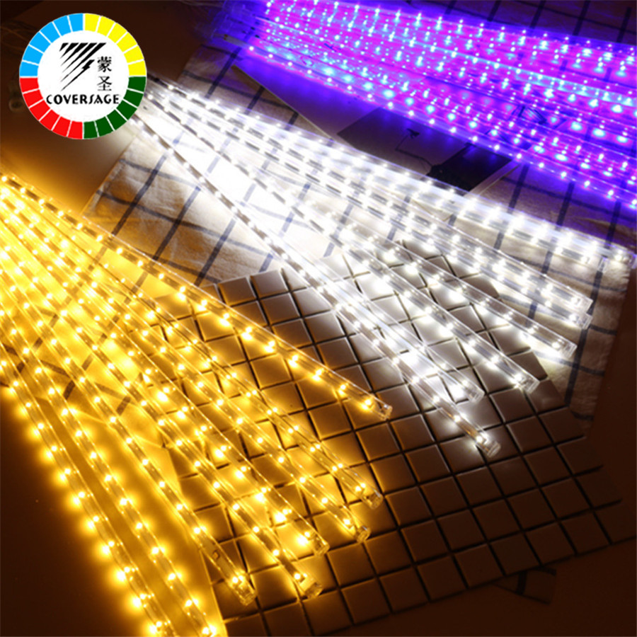 Led String Lampor Ljus Gardin Led Net Garden Light Led Gardin 50cm - Festlig belysning - Foto 4