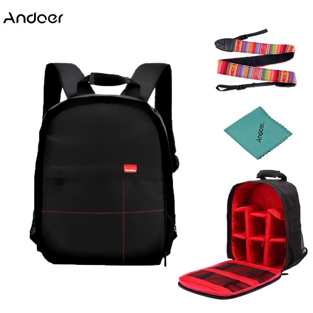 Camera/video Bags Andoer Dslr Digital Camera Backpack Bag New Multi-functional Small Video Backpack Waterproof Outdoor Video Camera Bag Backpack