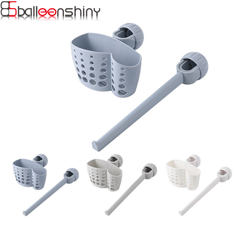 Kitchen Faucet Cleaning Drain Rack Soap Sponge Sink Shelf Kitchen Sink Hanging Basket Rag Rack Set Draining Basket