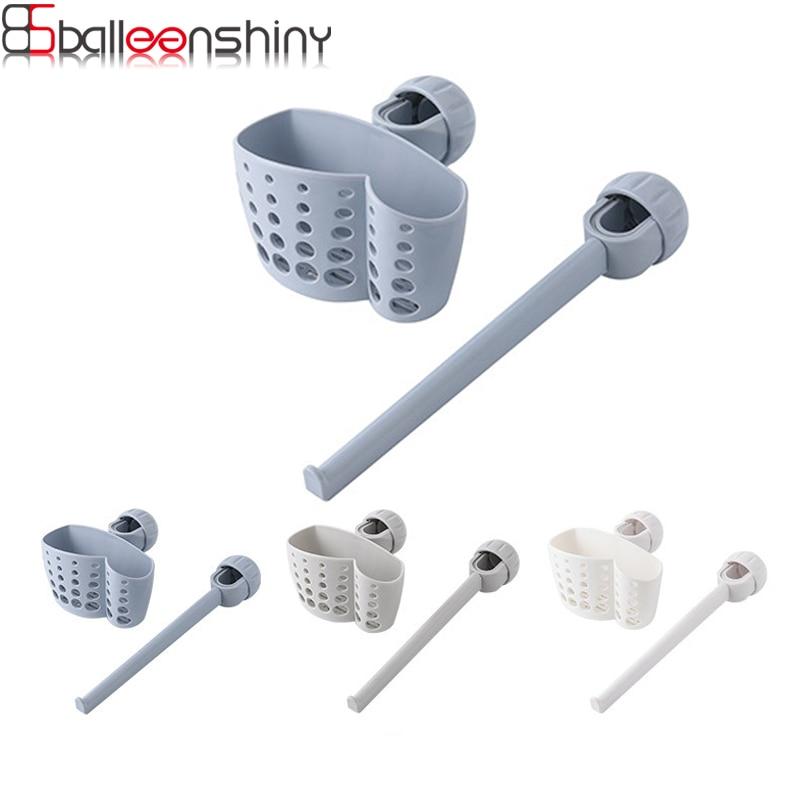 Kitchen Faucet Cleaning Drain Rack Soap Sponge Sink Shelf Kitchen Sink Hanging Basket Rag Rack Set Draining Basket