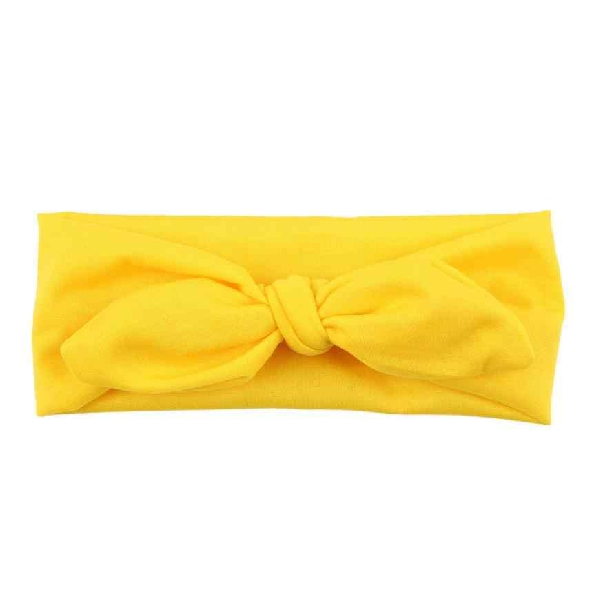 น่ารักเด็กผู้หญิง Headband กระต่าย Bow Ear Hairband Headwear ขายร้อน Turban Knot Head Wraps เด็ก Casual เครื่องแต่งกายอุปกรณ์เสริม