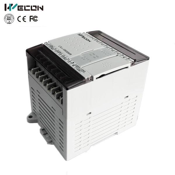 Wecon 140I/O relay output type plc for brand hmi wecon levi 102el hmi and lx3v 0806mt d plc transistor