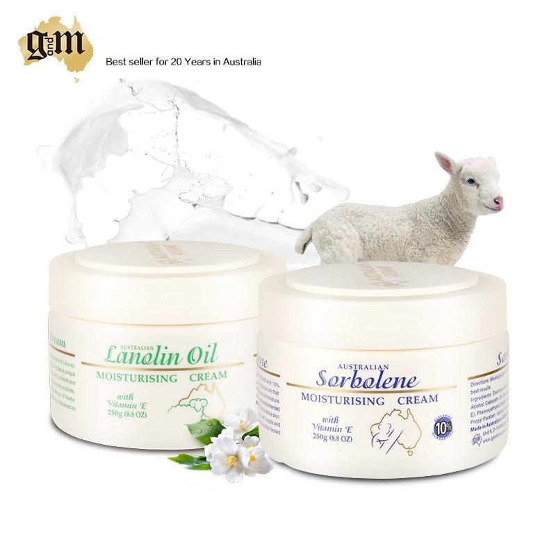Australia GM Skincare Seat Sorbolene Cream+Lanolin Day Cream for eczema, psoriasis, sensitive skin irritations & various rashes annemarie borlind zz sensitive day cream 1 7 fl oz pack of 3