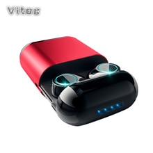 S7 หูฟัง TWS หูฟังไร้สายบลูทูธ 5.0 ชุดหูฟังสเตอริโอพร้อมไมโครโฟนกล่องชาร์จชาร์จ Mic สำหรับ huawei หูฟัง