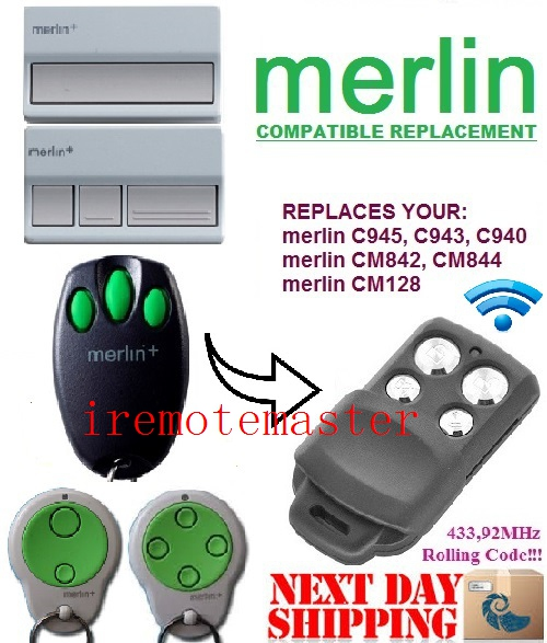 Merlin Plus c945 craw replacement remote transmitter free shipping
