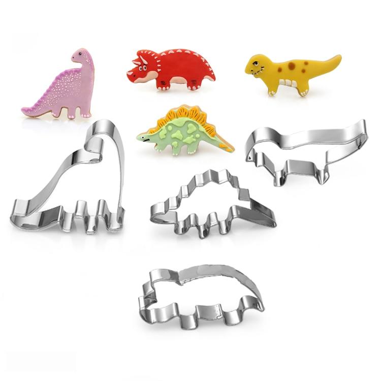 Dinosaur series 3 four-piece stainless steel cookie cutter 4 pieces/set
