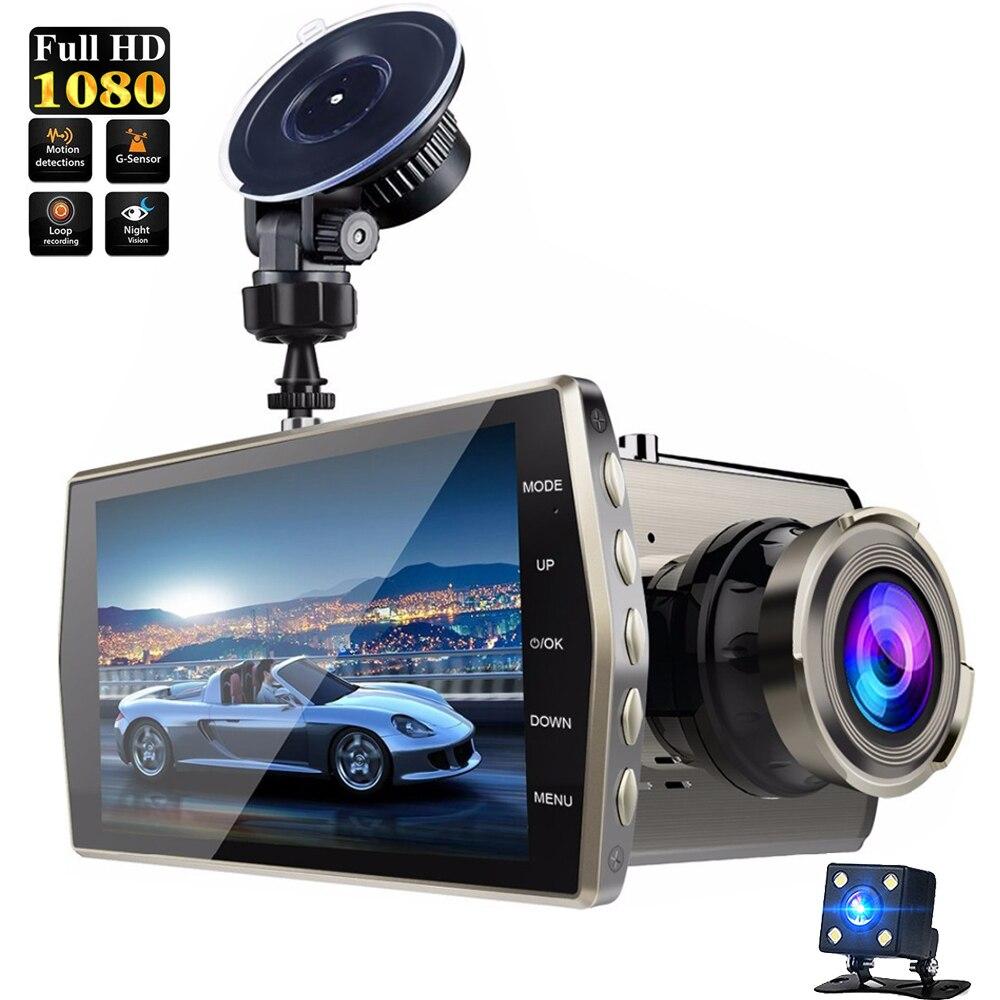 4 pulgadas FHD 1080 P IPS G-Sensor de visión nocturna cámara de doble lente Cylic grabación de vídeo registrador de la cámara el idioma ruso 2018 DOOGEE X55 Android 7,0 de 5,5 pulgadas 18:9 HD MTK6580 Quad Core 16GB ROM Dual Cámara 8.0MP 2800mAh lado huella dactilar teléfono inteligente