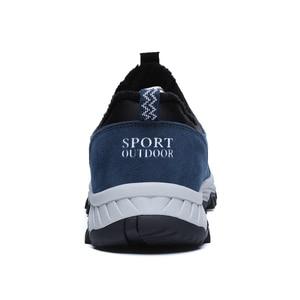 Image 4 - Warm Men Winter Shoes Casual With Fur Warm Suede Leather Men Shoes Outdoor Men Loafers Non slip Snow Shoes Hot Sale Men Footwear