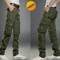 Moda 2016 Staight Holgados Ocasionales Al Aire Libre Pantalones Tácticos Overoles de Algodón de Los Hombres de Combate Del Ejército Militar Camo Pantalones Más El Tamaño 38