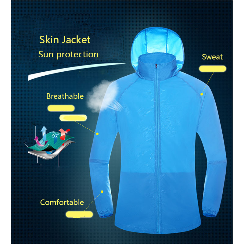 NANCYTINO Men Women Quick Dry Skin Jackets Sun Protective Waterproof Warm Coats Outdoor Sports Clothing Camping Hiking Jacket in Hiking Jackets from Sports Entertainment