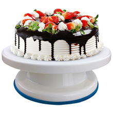 Dropship 10 Inch Hot Sale Plastic Cake Turntable Rotating Decorating Anti-skid Round Stand Rotary Table