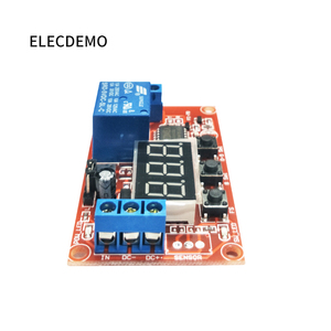 Image 5 - Multi function digital display adjustable power cycle high and low trigger pulse delay relay module 5V12V24V