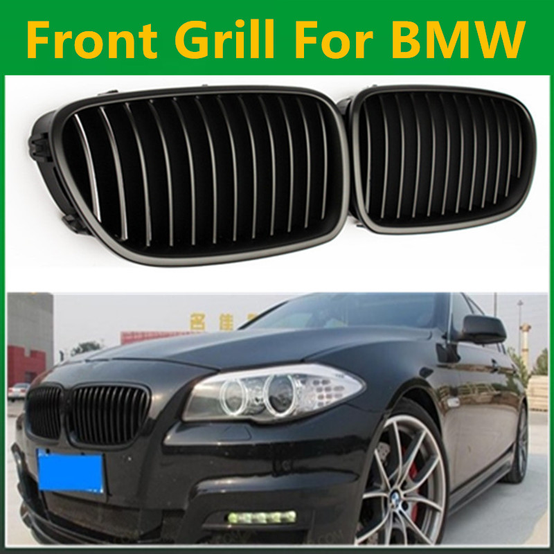 5 Series F10 Glossy Black Single Slat M5 Style Front Kidney Grille Grill For BMW F10 520i 523i 525i 530i 535i 2010+ спойлер bmw f10 5 2010