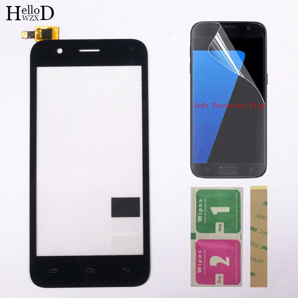 "Touch Screen Sensor Digitizer Panel For Micromax Bolt Q346 Front Glass Screen Touch Touchpad 4.5"" Mobile Phone Protecotr Film"