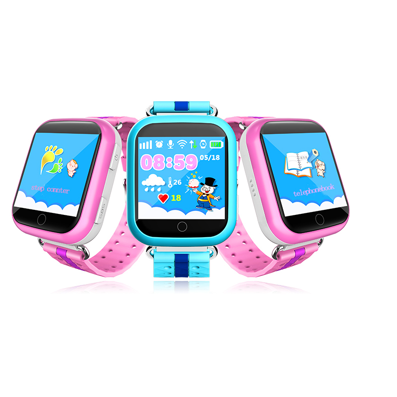 2018 Children Smart Watch GPS Q750 Q100 Phone Baby Watch with Wifi SOS Call Location Device Tracker for Kid Safe Cute Child Gift