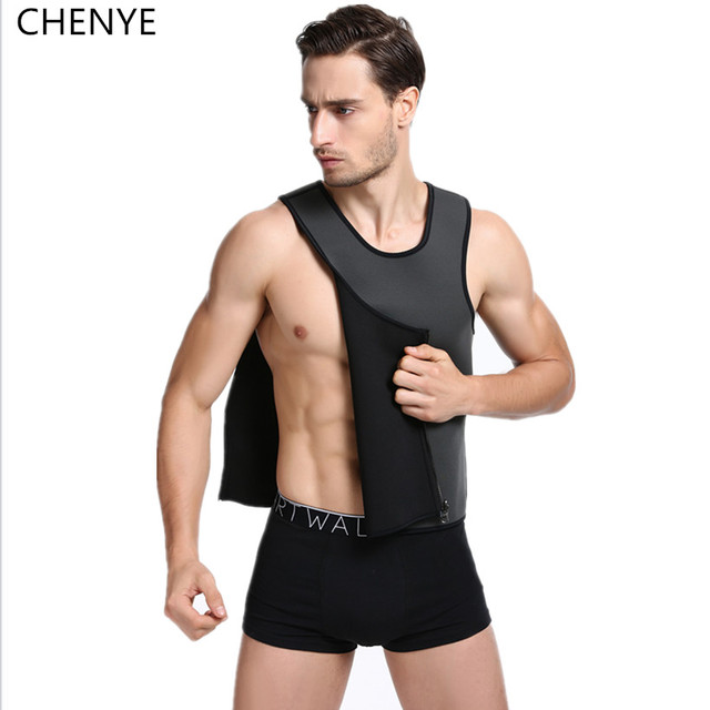 Homens Colete de Neoprene Ultra Camisa de Suor hot shapers do corpo de emagrecimento barriga cintura instrutor Tops S-6XL Shapewear abdômen Cinto de fitness