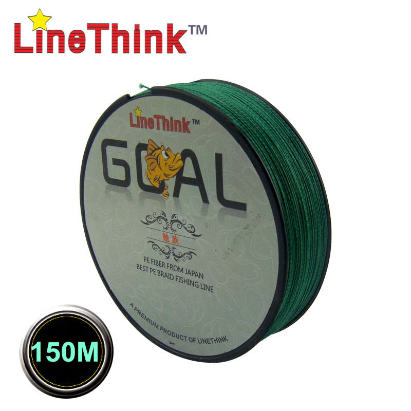 150M  LineThink Brand GOAL Japan Quality Multifilament 100% PE Braided Fishing Line Fishing Braid  Free Shipping