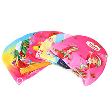 Flexible Colorful Swimming Cap Waterproof Bathing Protector Children Stretch Color Randomly
